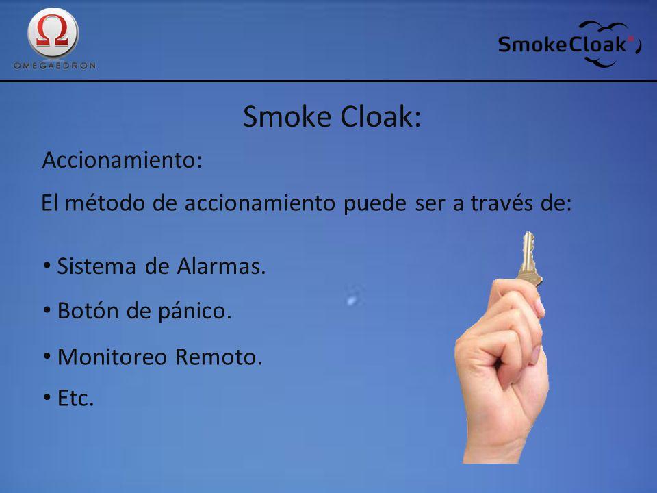 Smoke Cloak: Accionamiento: