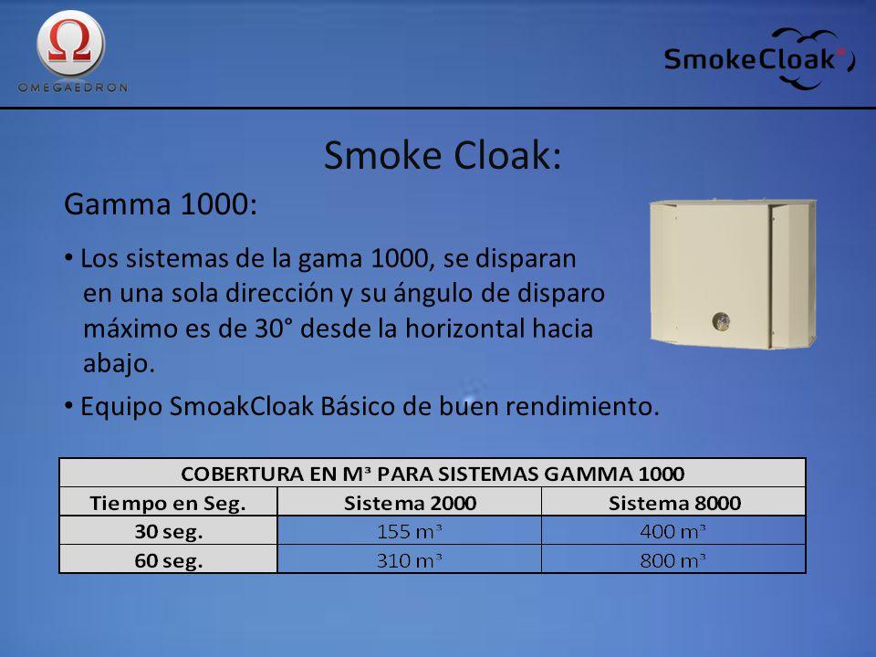 Smoke Cloak: Gamma 1000: Los sistemas de la gama 1000, se disparan