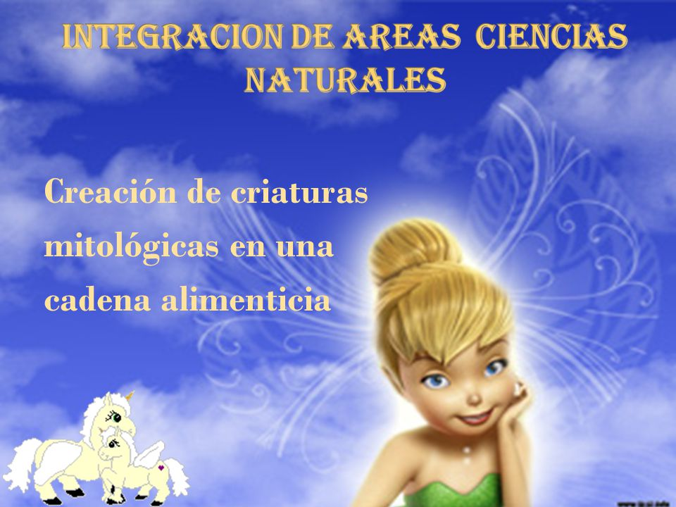 INTEGRACION DE AREAS ciencias naturales