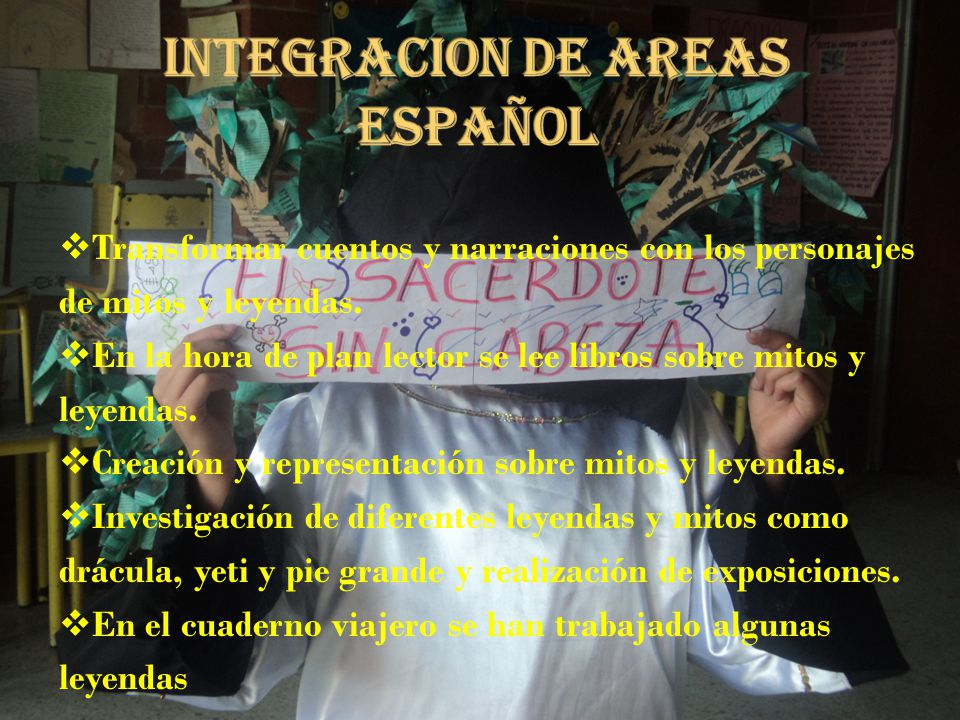 INTEGRACION DE AREAS ESPAÑOL