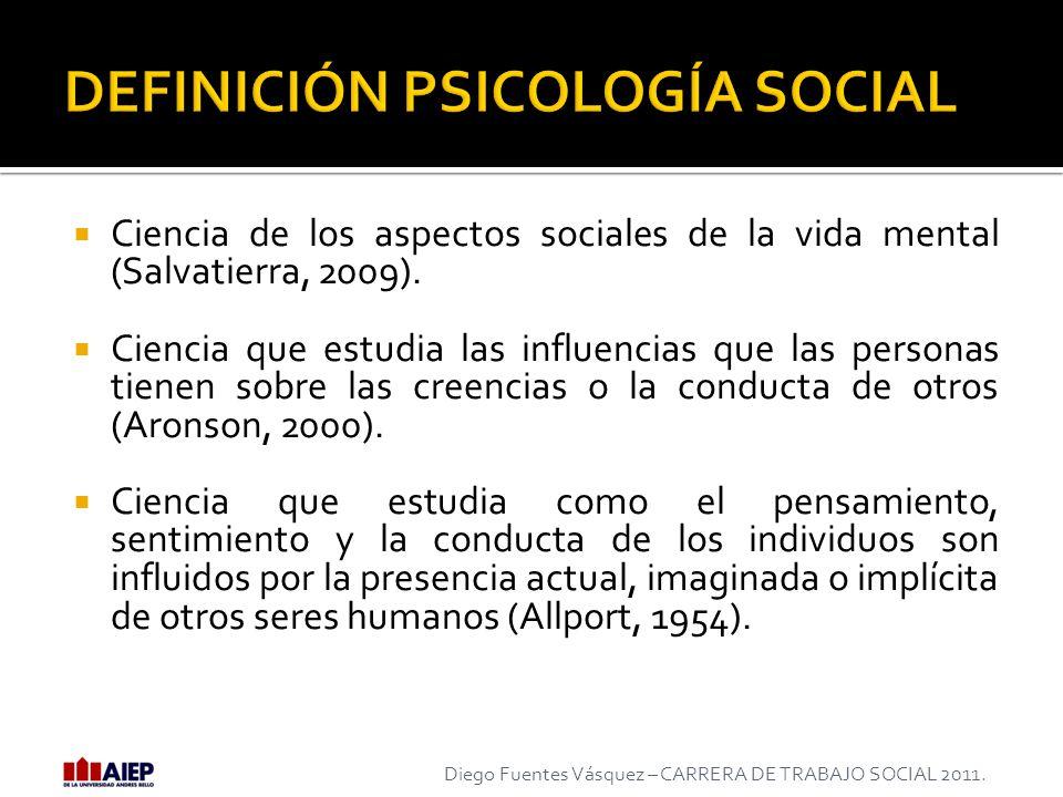 DEFINICIÓN PSICOLOGÍA SOCIAL