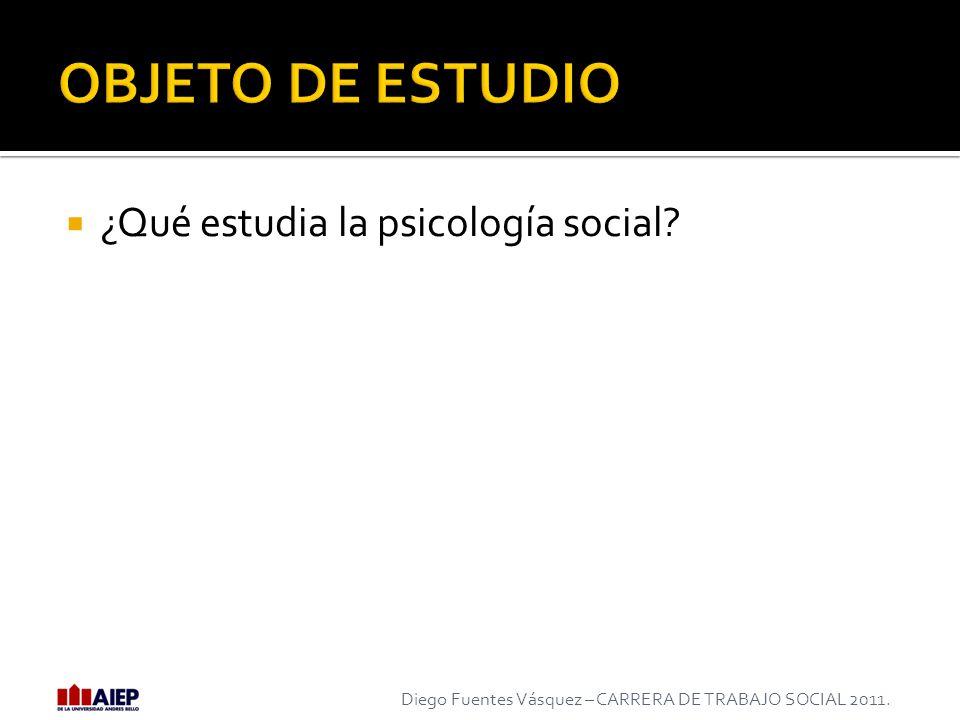 OBJETO DE ESTUDIO ¿Qué estudia la psicología social