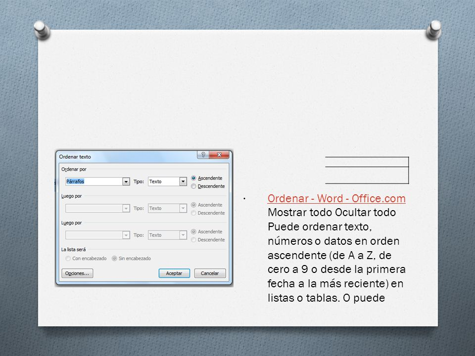 Ordenar - Word - Office.com