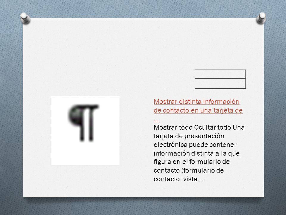 Mostrar distinta información de contacto en una tarjeta de ...