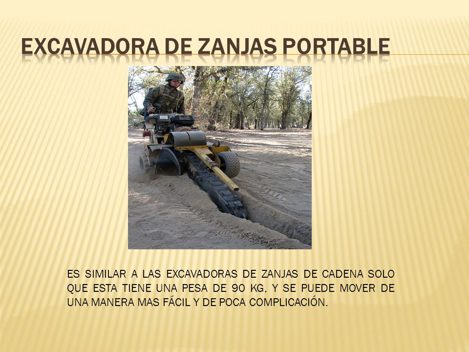 Excavadora de zanjas portable