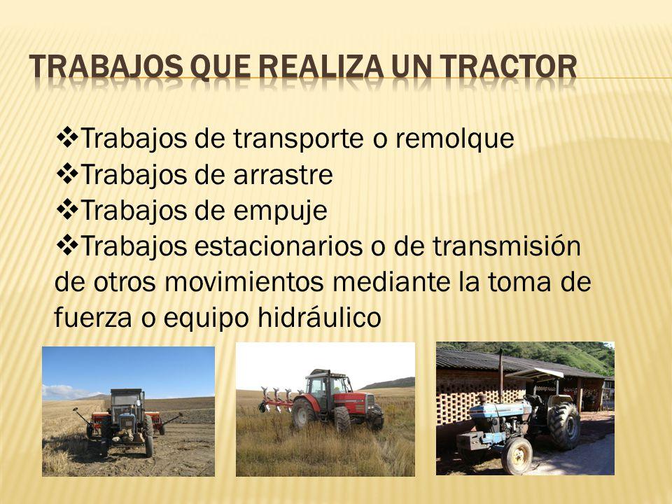Trabajos que realiza un tractor