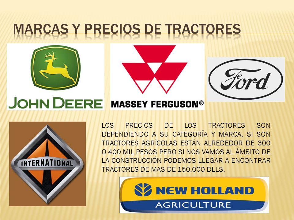 Marcas y precios de tractores