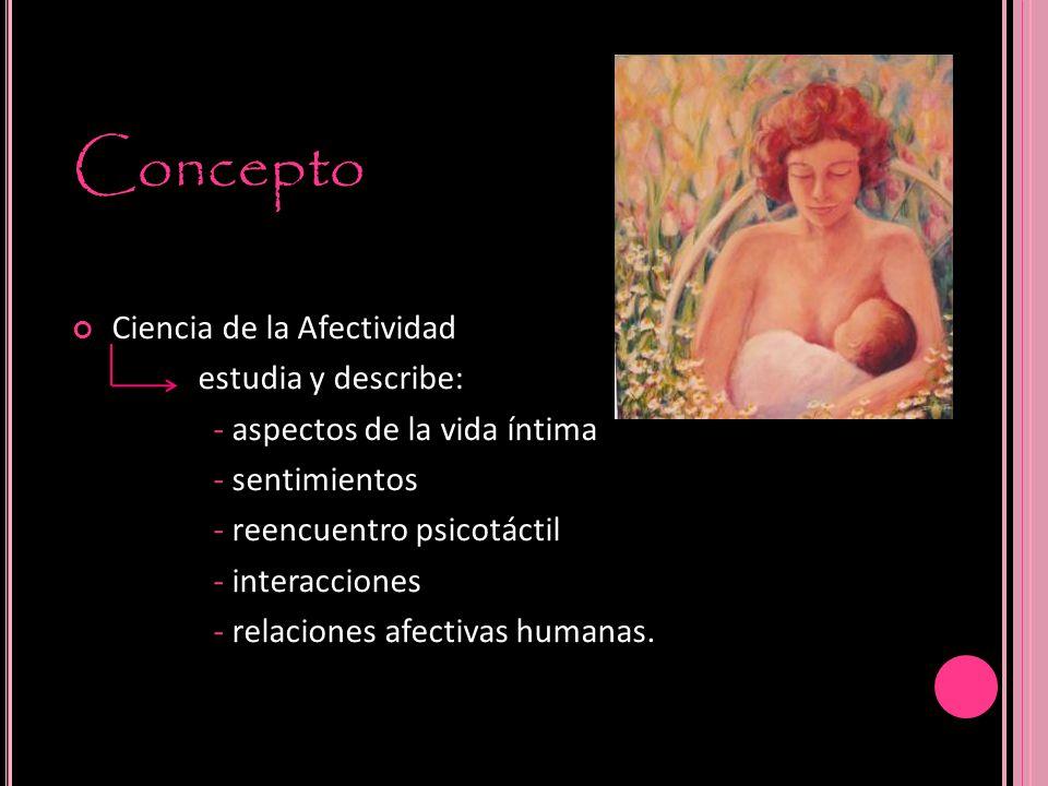 Concepto Ciencia de la Afectividad estudia y describe:
