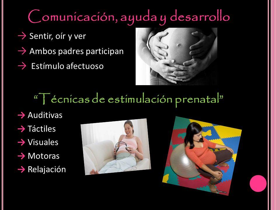 Comunicación, ayuda y desarrollo Técnicas de estimulación prenatal
