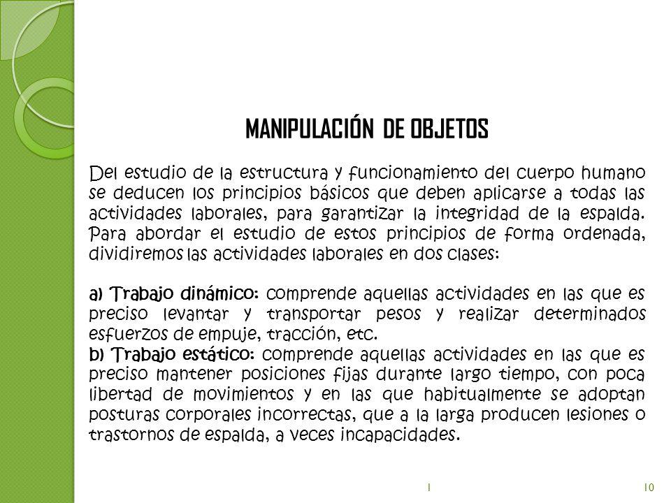 MANIPULACIÓN DE OBJETOS