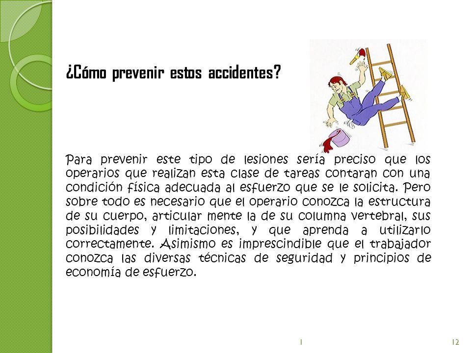 ¿Cómo prevenir estos accidentes