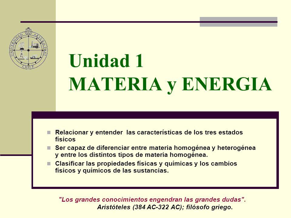 Unidad 1 MATERIA y ENERGIA