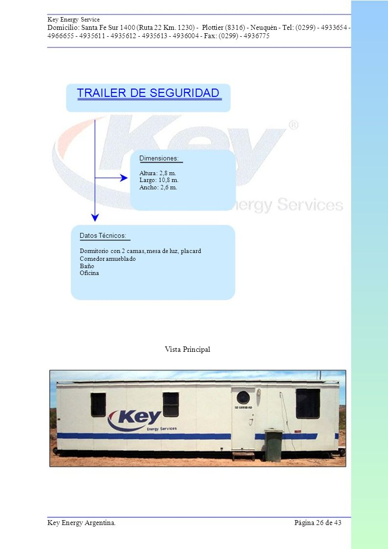 TRAILER DE SEGURIDAD Vista Principal