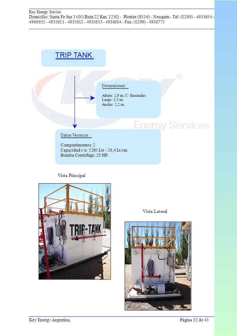 TRIP TANK Vista Principal Vista Lateral