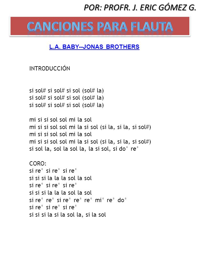 L.A. BABY--JONAS BROTHERS