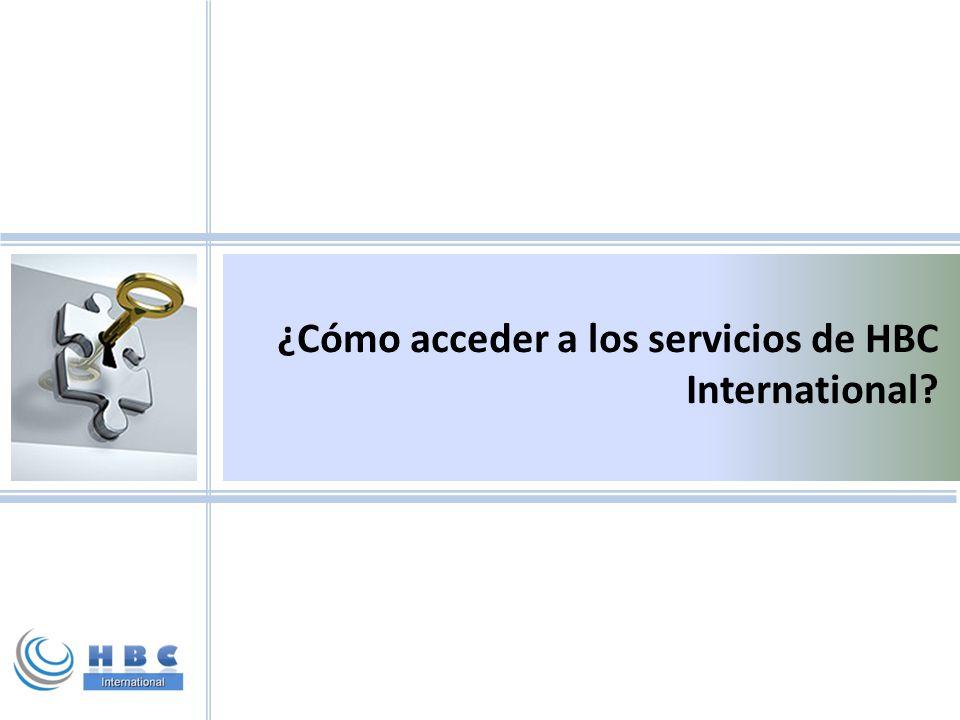 ¿Cómo acceder a los servicios de HBC International