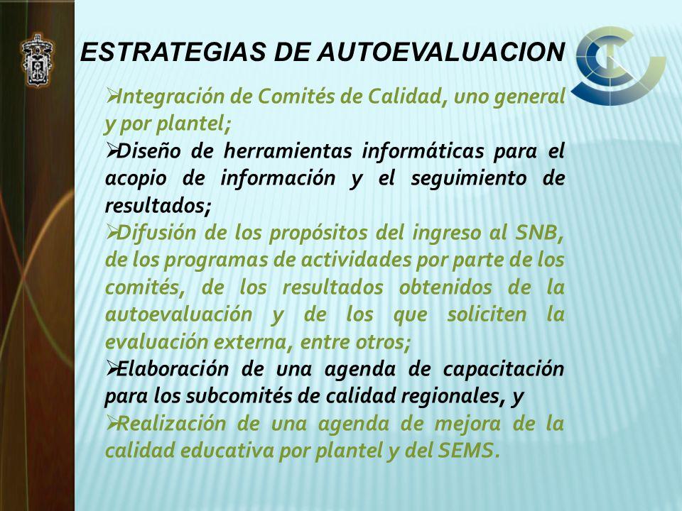ESTRATEGIAS DE AUTOEVALUACION