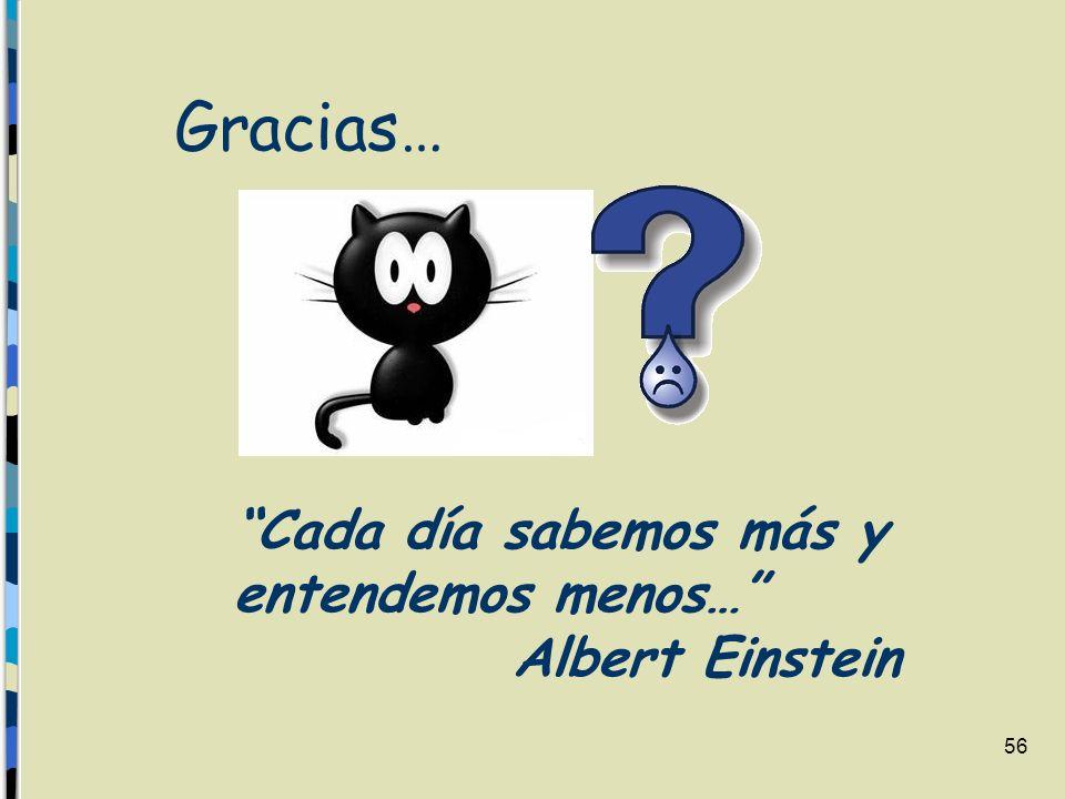 Gracias… Cada día sabemos más y entendemos menos… Albert Einstein