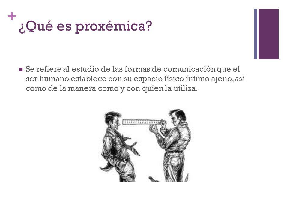 ¿Qué es proxémica