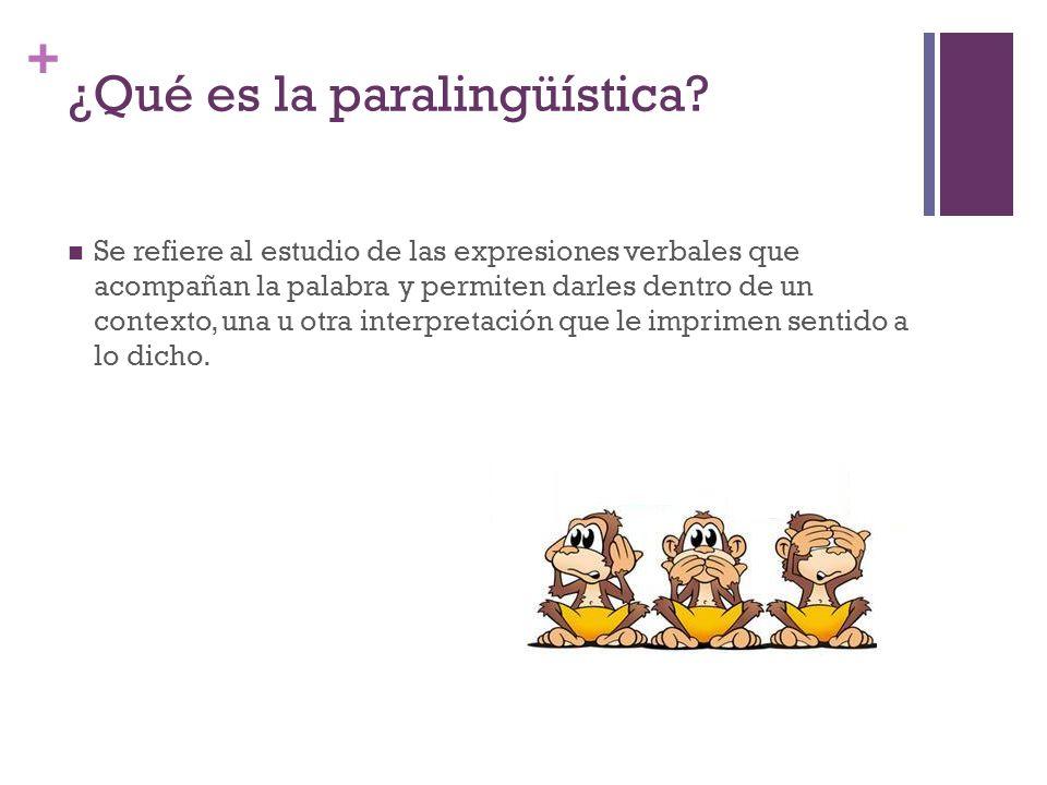 ¿Qué es la paralingüística