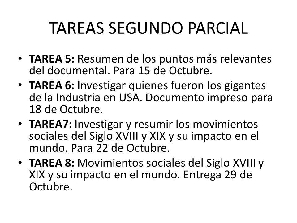TAREAS SEGUNDO PARCIAL