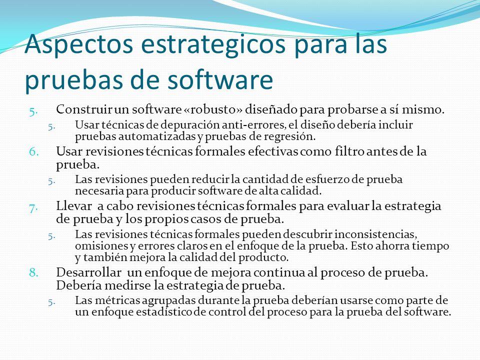 Aspectos estrategicos para las pruebas de software