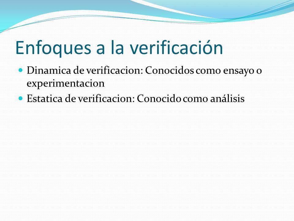 Enfoques a la verificación