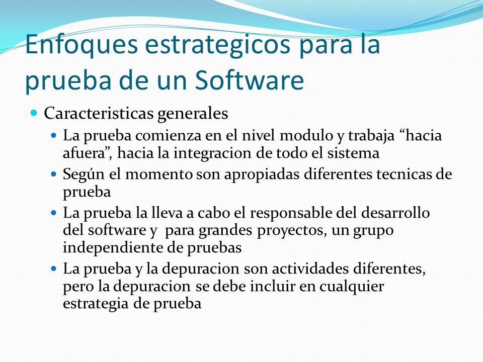 Enfoques estrategicos para la prueba de un Software