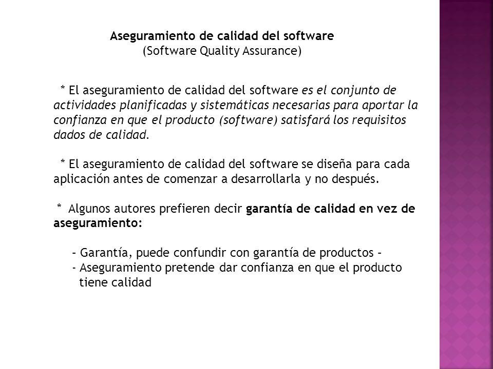 Aseguramiento de calidad del software