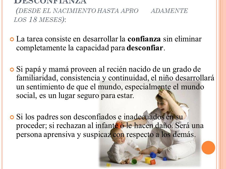 I. Confianza Básica vs. Desconfianza (desde el nacimiento hasta aproximadamente los 18 meses):