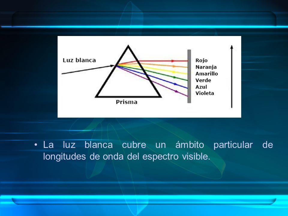 La luz blanca cubre un ámbito particular de longitudes de onda del espectro visible.