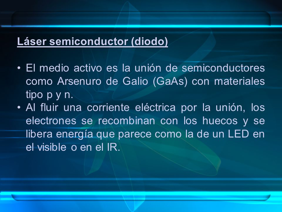 Láser semiconductor (diodo)