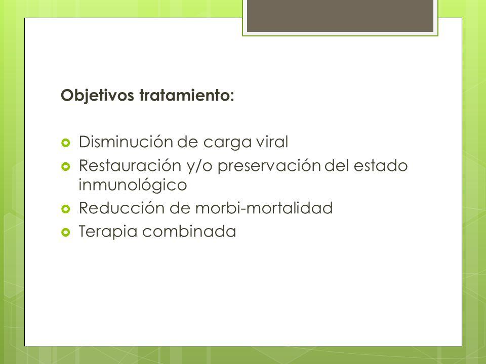 Objetivos tratamiento: