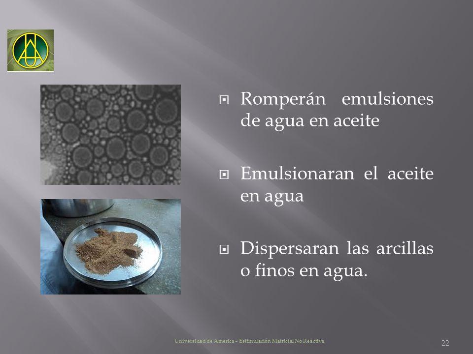 Romperán emulsiones de agua en aceite
