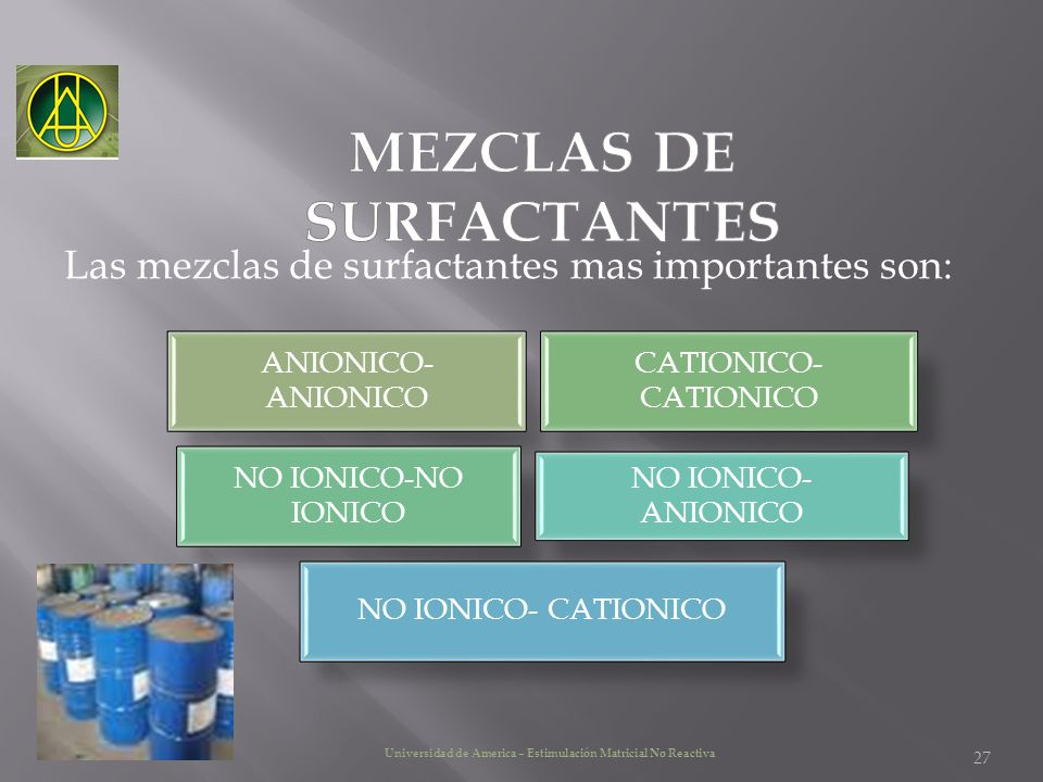 MEZCLAS DE SURFACTANTES