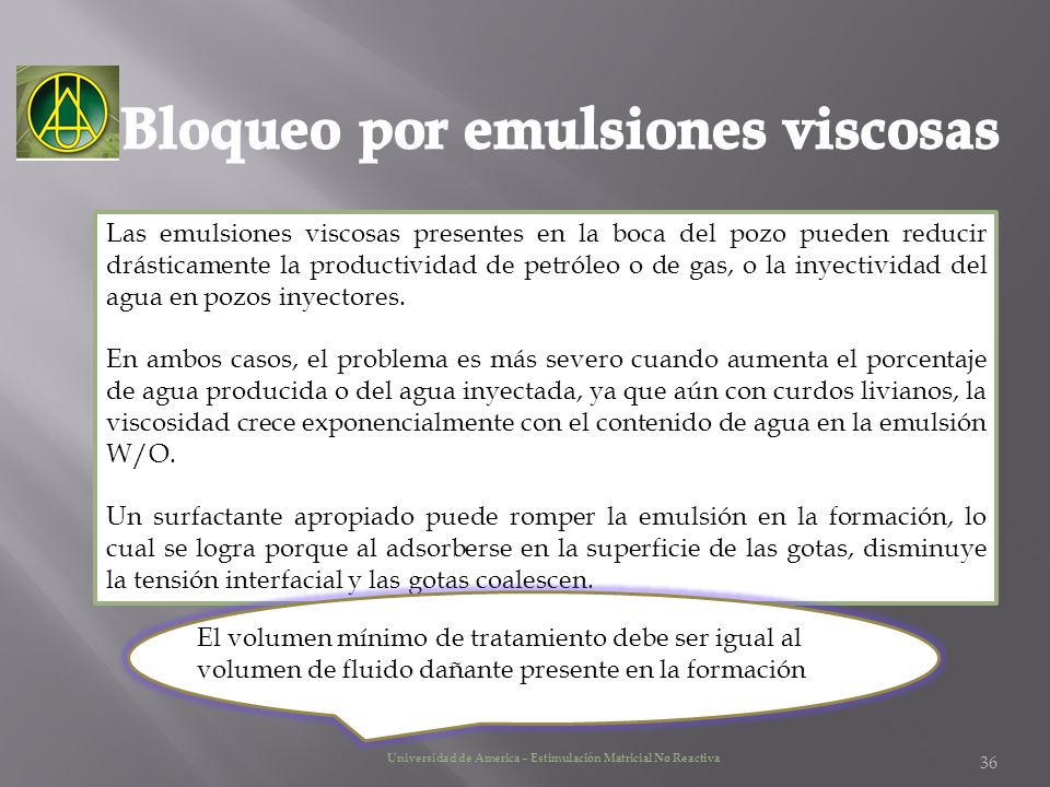 Bloqueo por emulsiones viscosas