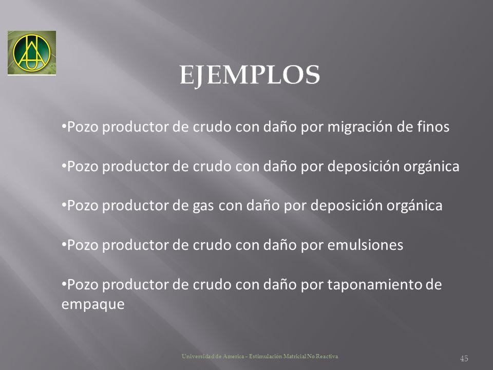 EJEMPLOS Pozo productor de crudo con daño por migración de finos