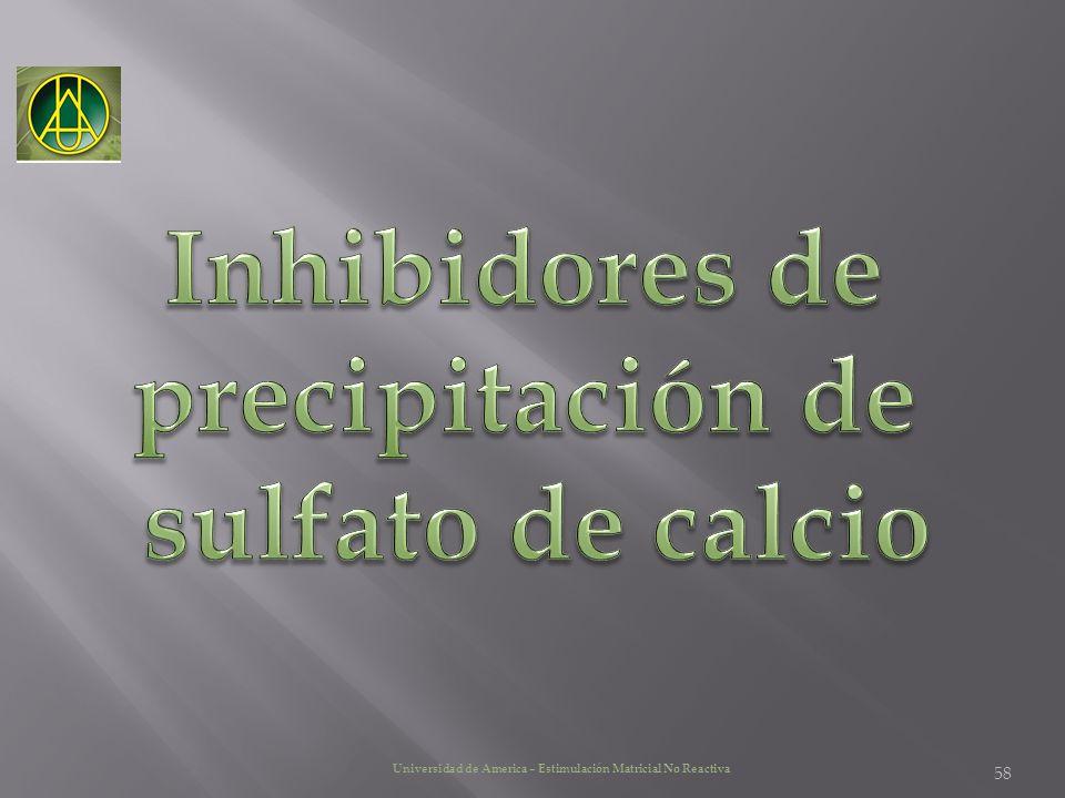 Inhibidores de precipitación de sulfato de calcio