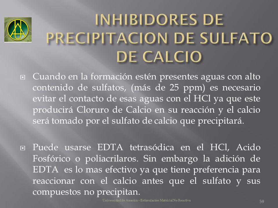 INHIBIDORES DE PRECIPITACION DE SULFATO DE CALCIO