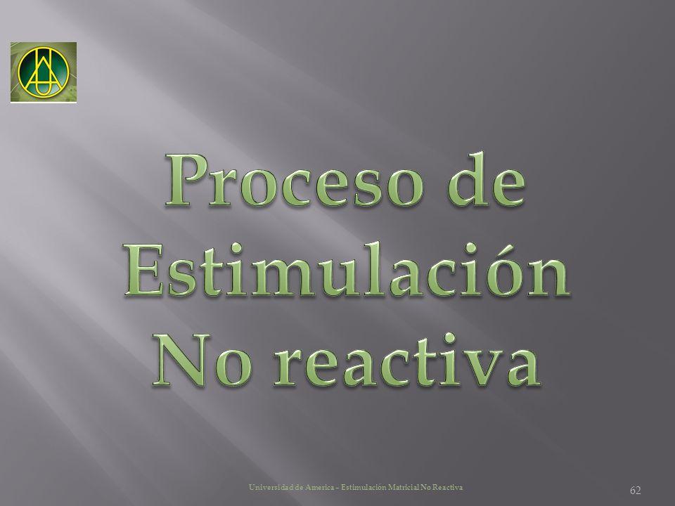 Proceso de Estimulación No reactiva