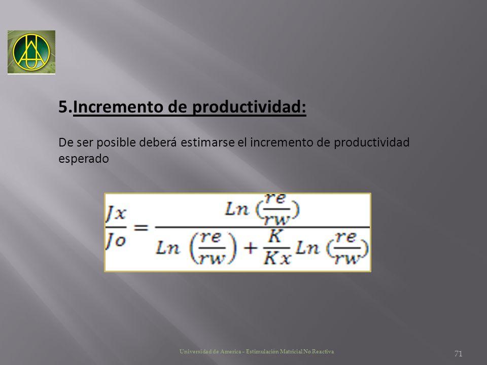 Incremento de productividad: