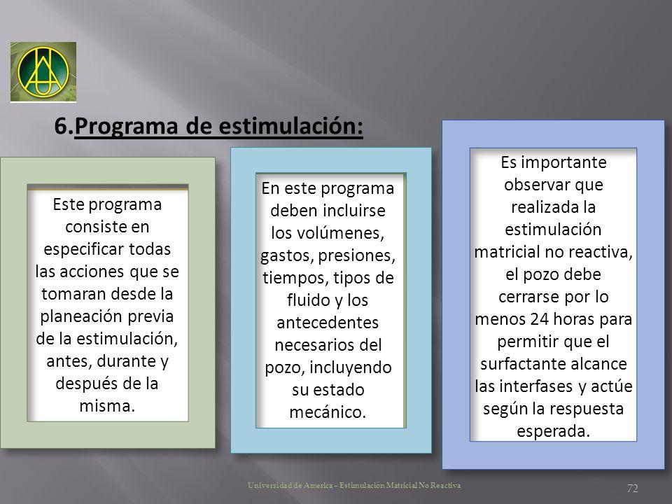 Programa de estimulación: