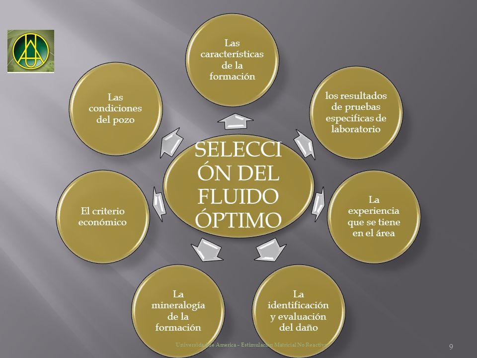 SELECCIÓN DEL FLUIDO ÓPTIMO