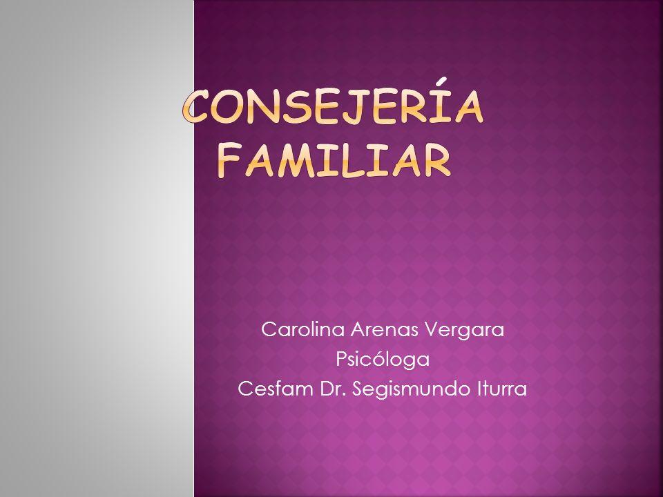 Carolina Arenas Vergara Psicóloga Cesfam Dr. Segismundo Iturra
