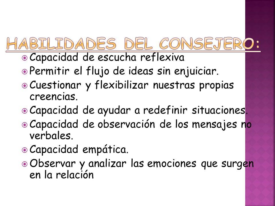 HABILIDADES DEL CONSEJERO: