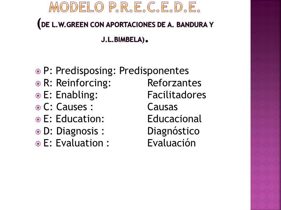 Modelo P. R. E. C. E. D. E. (De L. W. Green con aportaciones de A