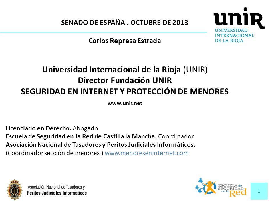 Director Fundación UNIR SEGURIDAD EN INTERNET Y PROTECCIÓN DE MENORES