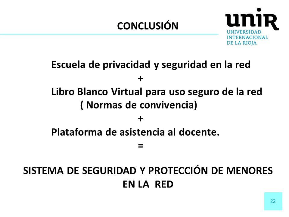 SISTEMA DE SEGURIDAD Y PROTECCIÓN DE MENORES EN LA RED