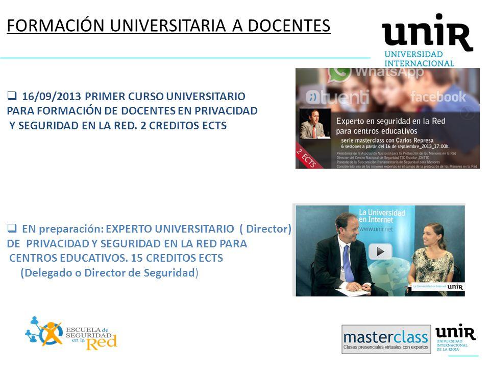 FORMACIÓN UNIVERSITARIA A DOCENTES