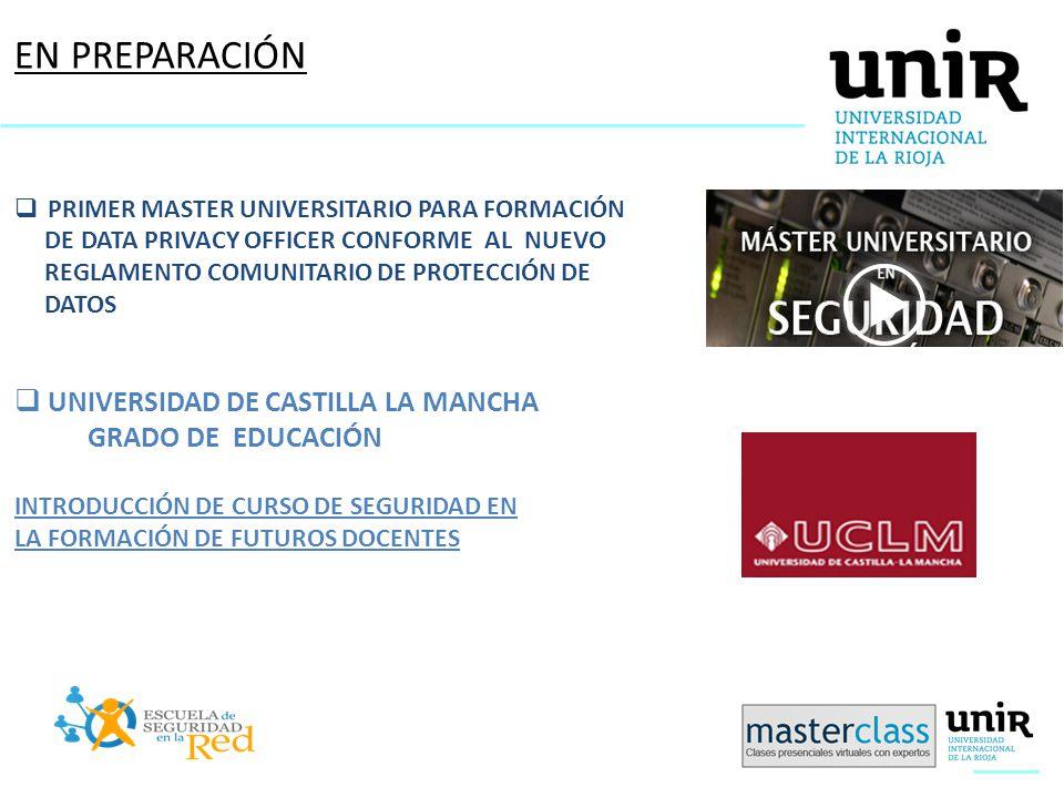 EN PREPARACIÓN UNIVERSIDAD DE CASTILLA LA MANCHA GRADO DE EDUCACIÓN